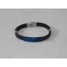 Casual Bracelet with Blue Plate