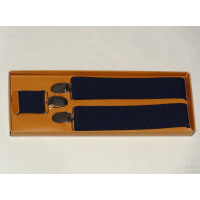 Blue Modern Suspenders for men - 35 mm