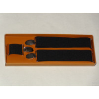 Black Suspenders for Men - 3.5 cm