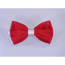 Bicolore Bow Tie - Red and white
