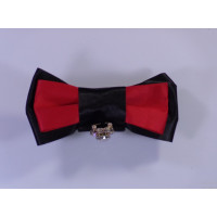 Classical Bow Tie with Pendant -Red and black
