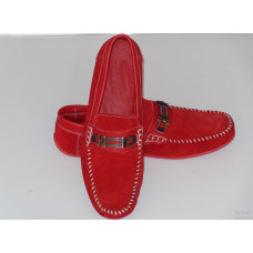 Red Daim Moccasin