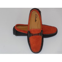 Daim Moccasin with Bracelet - Orange Brown
