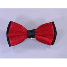 Red Bow Tie with Black Sides