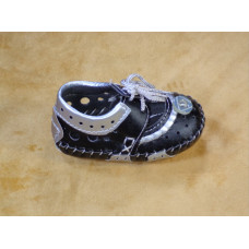 Bicolor Shoes for Baby: Grey and Black