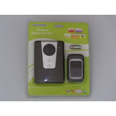 Water Resistant Wireless Doorbell - Black