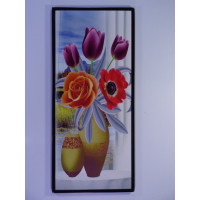 Wall decorative chart with flowers