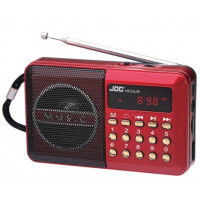USB FM Rechargeable Radio - Red