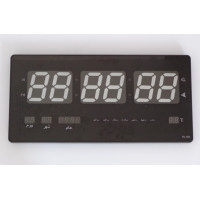 Electrical wall clock - Green led