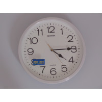 White silent wall clock - Quartz